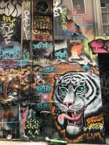 Melbourne street art of tiger