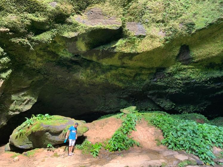 Rock formations at the Hulugan Falls