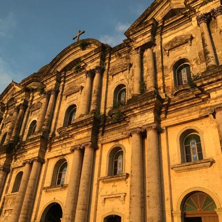 Taal Basilica at sunset