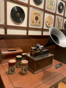 Wax-piped gramophone from America, 19th centuryuseum