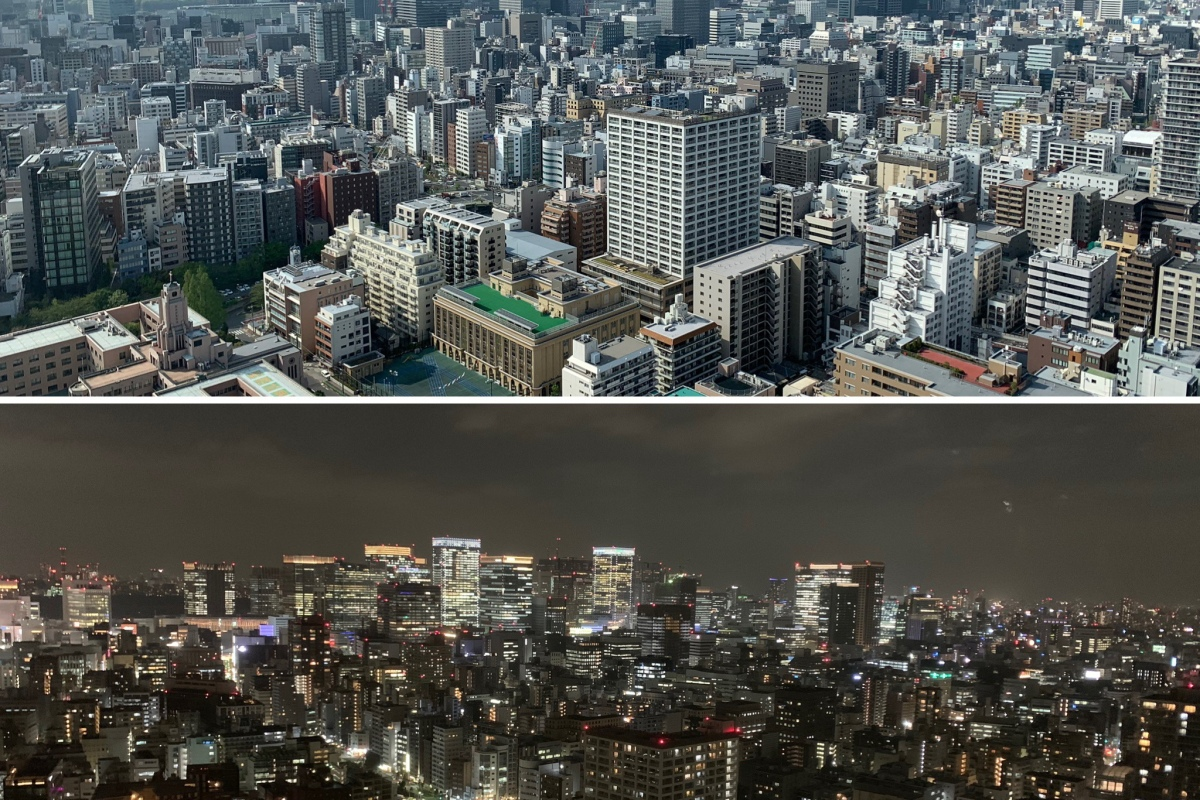 Tokyo, day and night