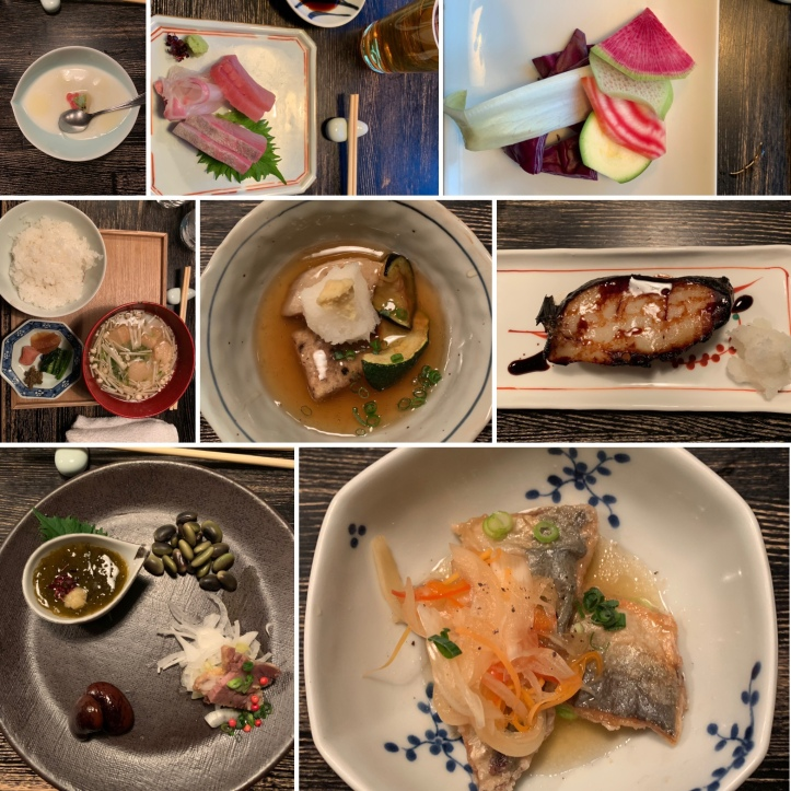 Various Japanese dishes