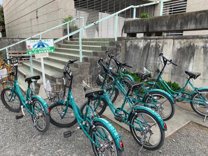 Matsumoto City's Sui Sui Town free rental bikes