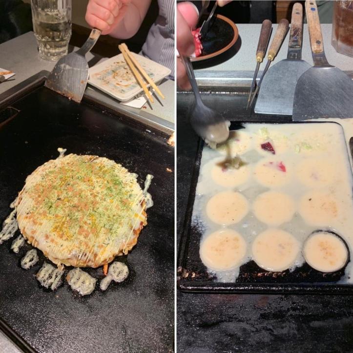 Okonimayki and takoyaki