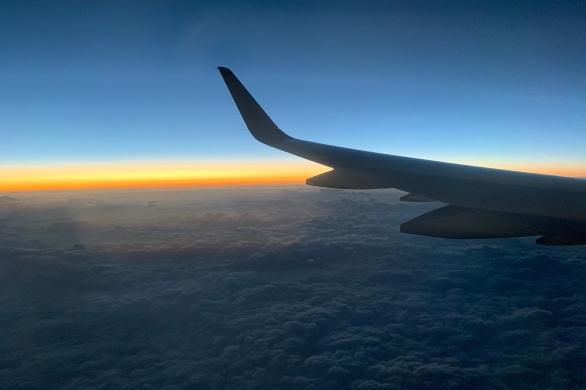 Sunset and the horizon