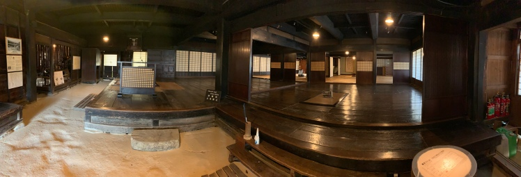 Panoramic view of a house's interior