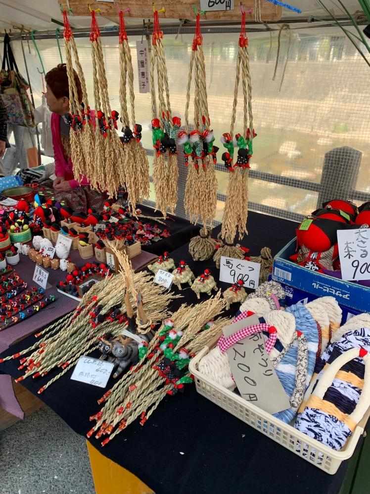 Local products at the Miyagawa Morning Market