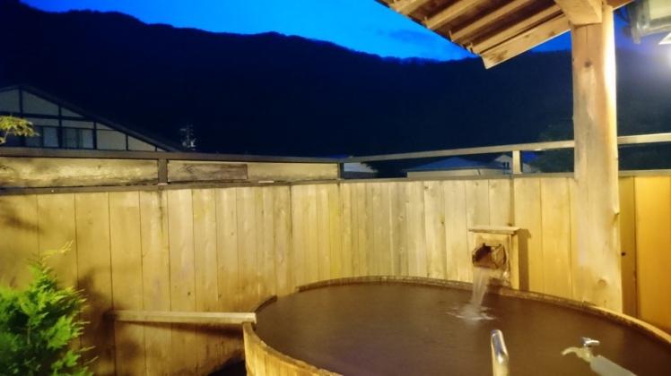 Private outdoor bath, Hirayu Onsen