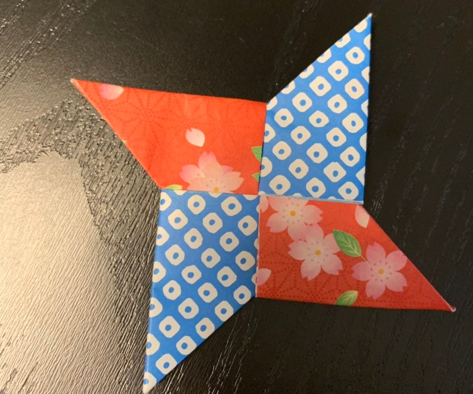 Origami I got as a token from the Matsumoto Timepiece Museum