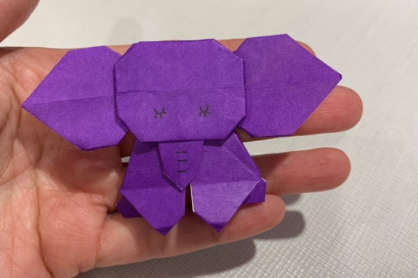 Elephant origami from Haneda Airport's tourist information center