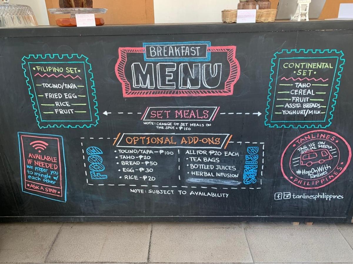 Tanlines menu