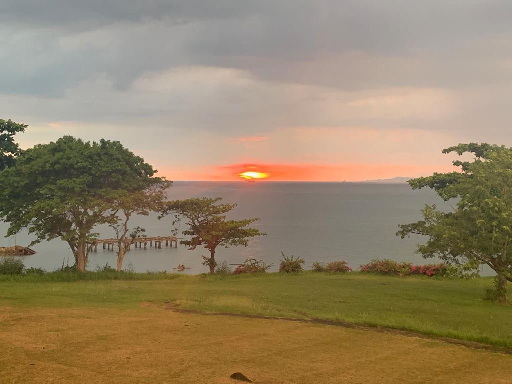 Sunset view from the b&b