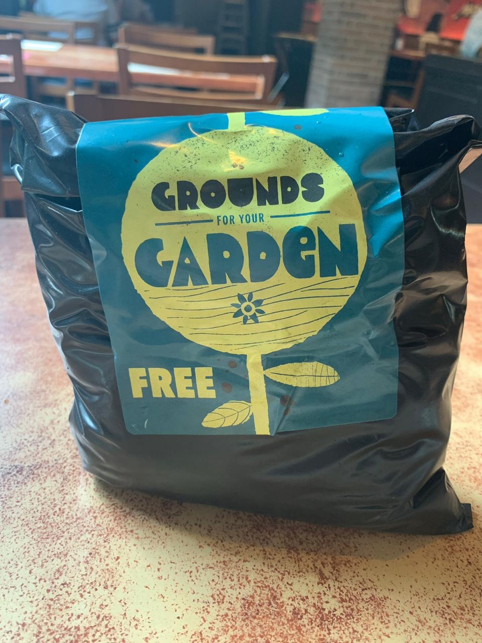Free coffee grounds from Starbucks