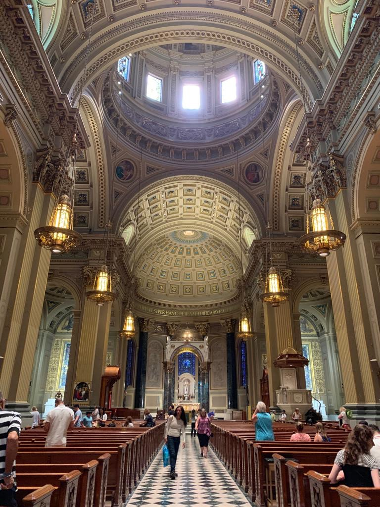 Inside the Cathedral Basilica of Saints Peter and Paul