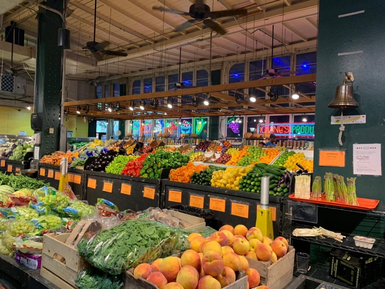 Colorful choices of fruit and veggies