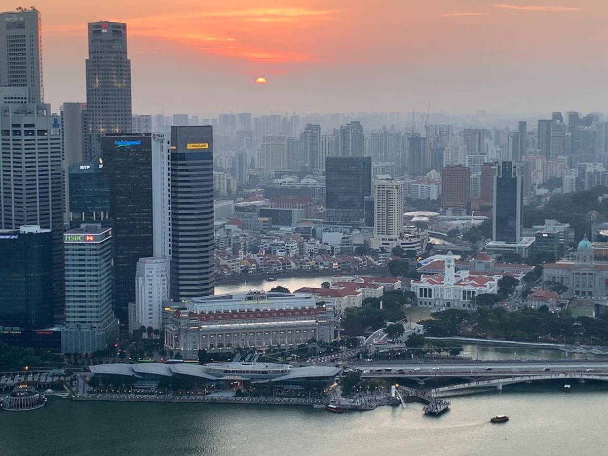 Sunset and Singapore