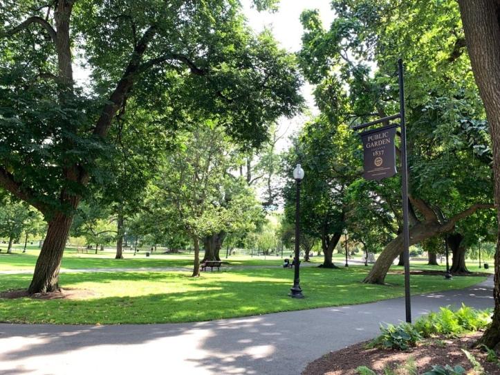 Boston Public Garden entrance
