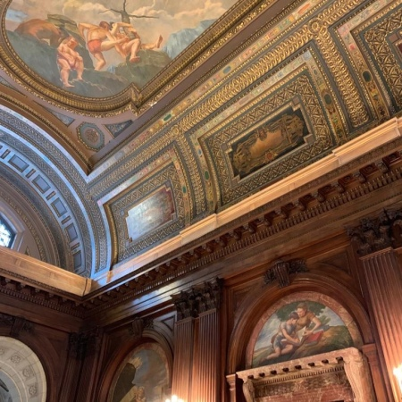 Breathtaking room and ceiling, New York Public Library