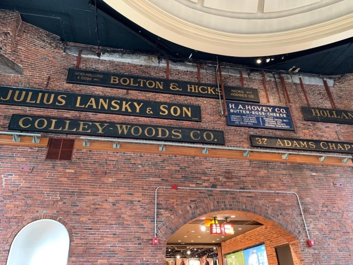 Old signages at Quincy Market