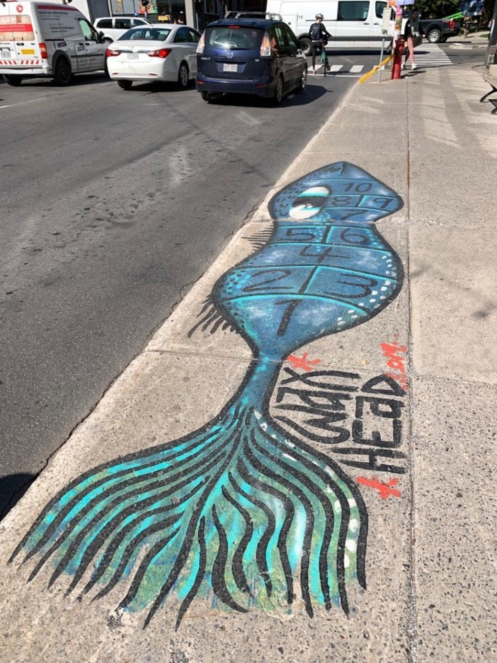 Street art at Saint Laurent Avenue, Montreal